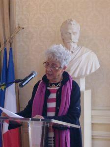 Bourges im Rathaus -Monique Charles (déléguée au jumellage..)