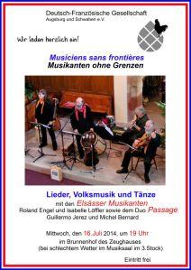 Plakat Einladung Deutsch-Franz. Gesellsch